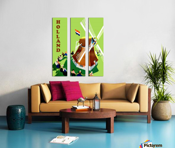 Holland Windmill Split Canvas print