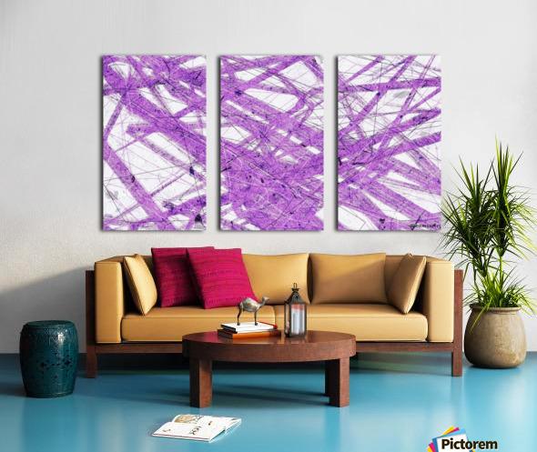 Purple Rain Split Canvas print