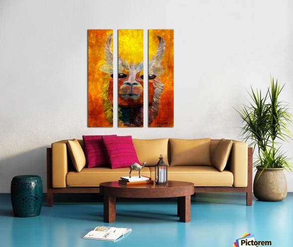 Alpaca Split Canvas print
