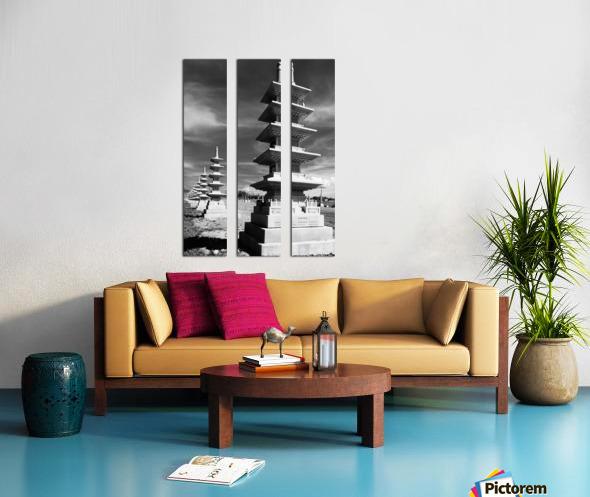 Vanishing Towers of Wutai Shan Split Canvas print