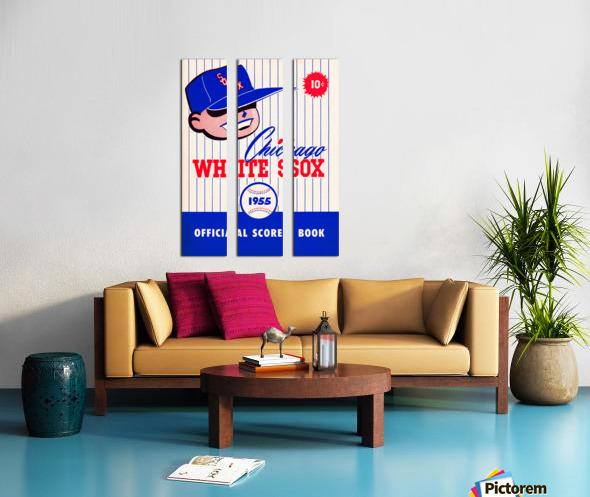 1955 chicago white sox mlb baseball score book poster Split Canvas print