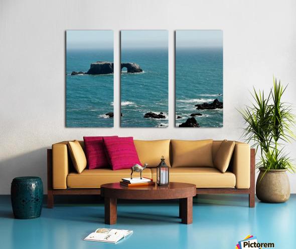 Pacific Coast Highway Clifornia CA 14 Split Canvas print