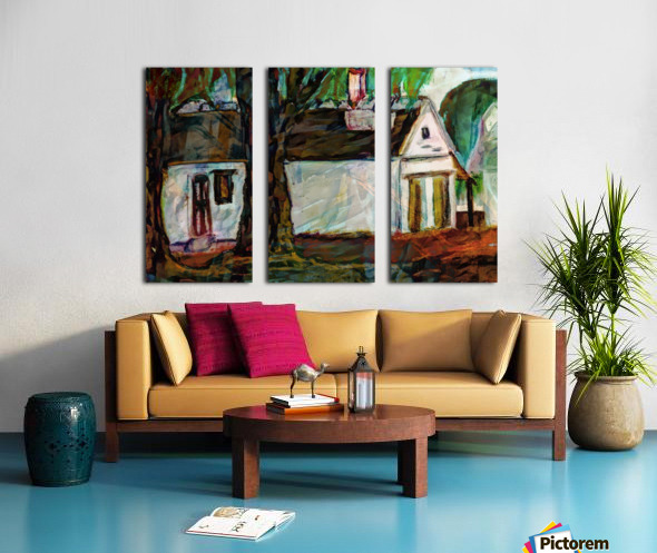 The Neighbors Split Canvas print