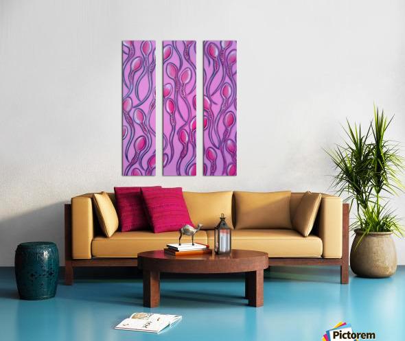 Sperms pink Split Canvas print