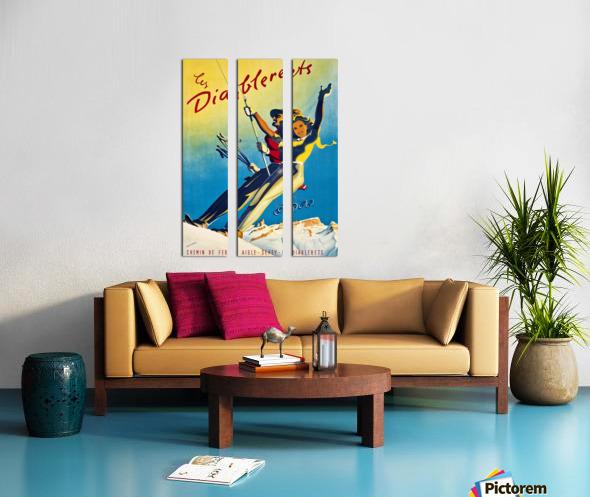 Skiing on Les Diablerets Split Canvas print