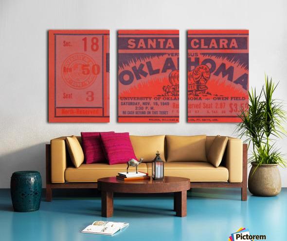 1949 oklahoma sooners bud wilkinson undefeated sooner team Split Canvas print