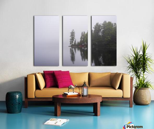 Koshlong Lake Fog Split Canvas print