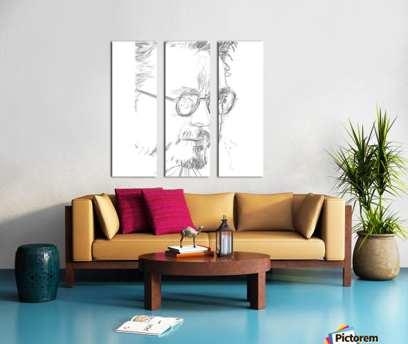 Robert Downy Jr. - Celebrity Pencil Art Split Canvas print