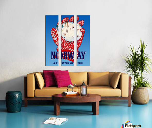 Norway Fistful of Fun Split Canvas print