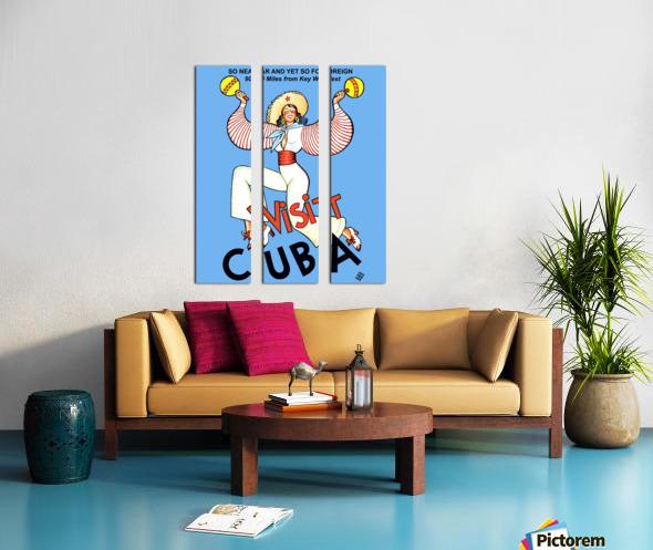 Visit Cuba Split Canvas print
