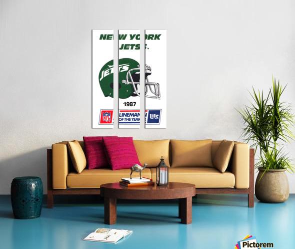1987 New York Jets Helmet Art Split Canvas print