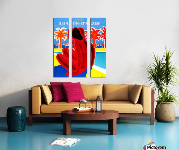 Cote D Azur Split Canvas print