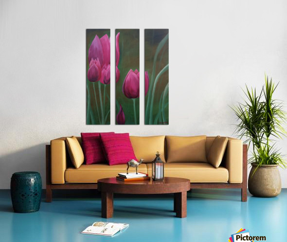Red Tulips Split Canvas print