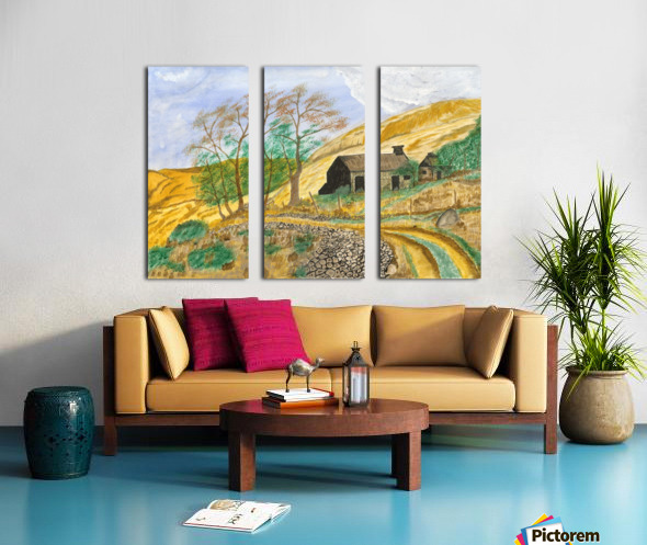 Falstone walk Split Canvas print