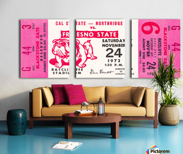 1973 cal state northridge fresno state bulldogs Split Canvas print