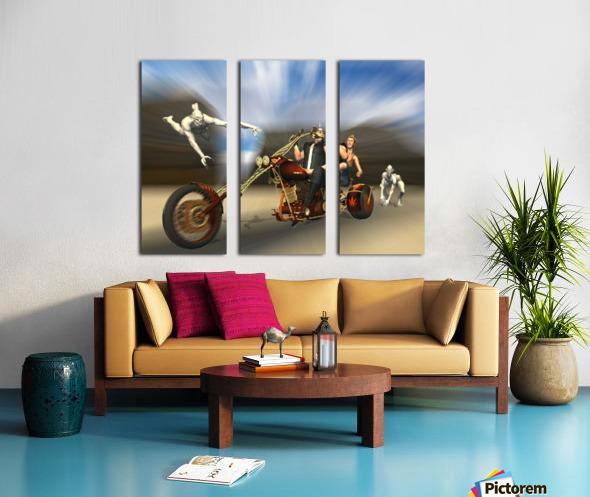 Desert Ride Split Canvas print