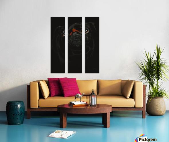 RASPBERRY PUG_COLOR PENCIL_51X69.30 Split Canvas print
