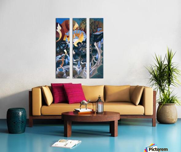 1987 025 Split Canvas print