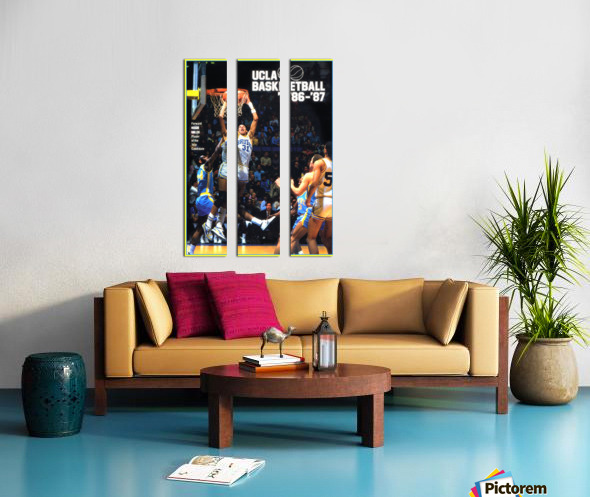 1986 ucla basketball reggie miller poster Split Canvas print