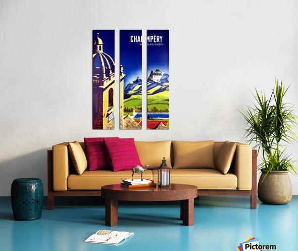 Champery Split Canvas print