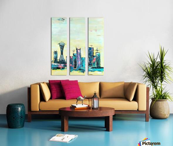 Uptown Seattle  Split Canvas print