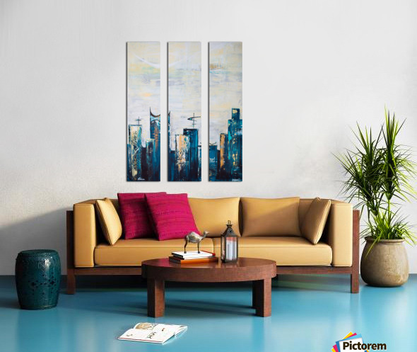 Uptown IX  Split Canvas print