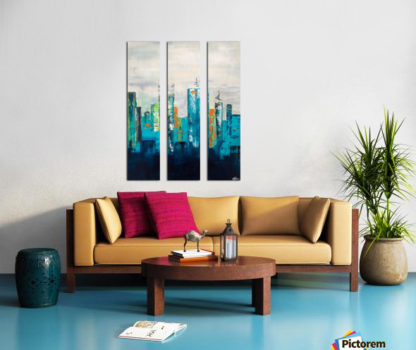 Uptown II Split Canvas print