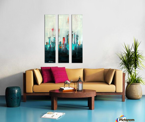 Uptown XXI Split Canvas print