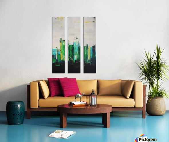 Uptown XIX Split Canvas print