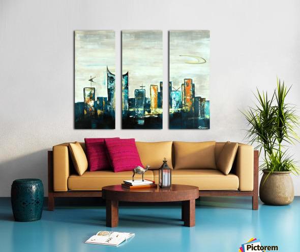Uptown V Split Canvas print