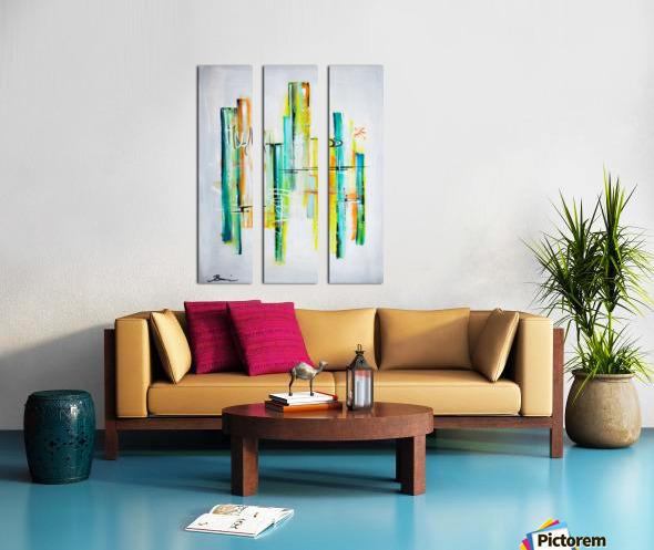 Blue Hawai II Split Canvas print