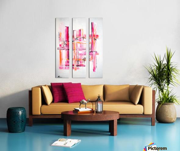 Pink Lady Split Canvas print
