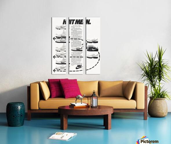 Hit Men Nike Shoes Ad Poster Reproduction 1982 Split Canvas print