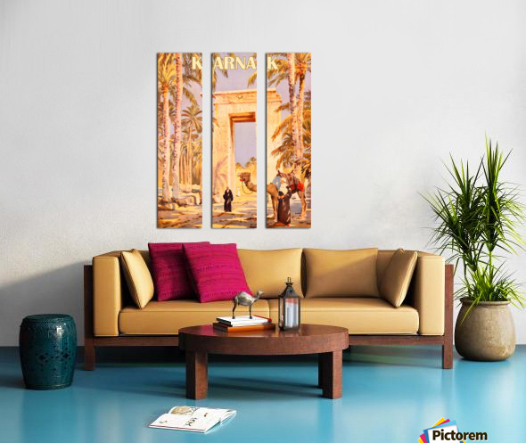 Karnak Split Canvas print