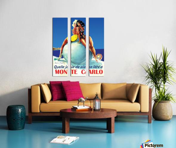 Monte carlo Split Canvas print