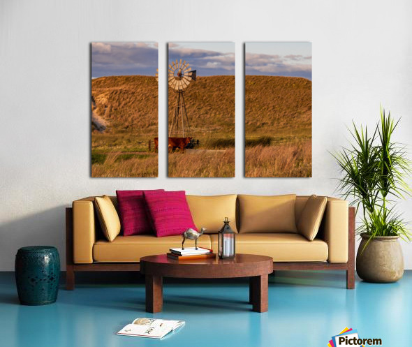 Late Afternoon Drink In The Sandhills Split Canvas print