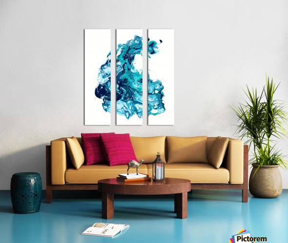 Surf Wave Split Canvas print
