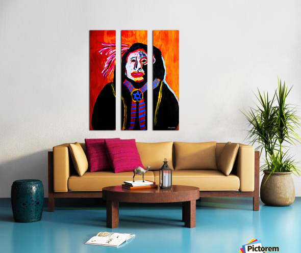 Masked Indian Split Canvas print