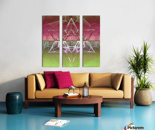 Cube of Metatron Red Green Split Canvas print