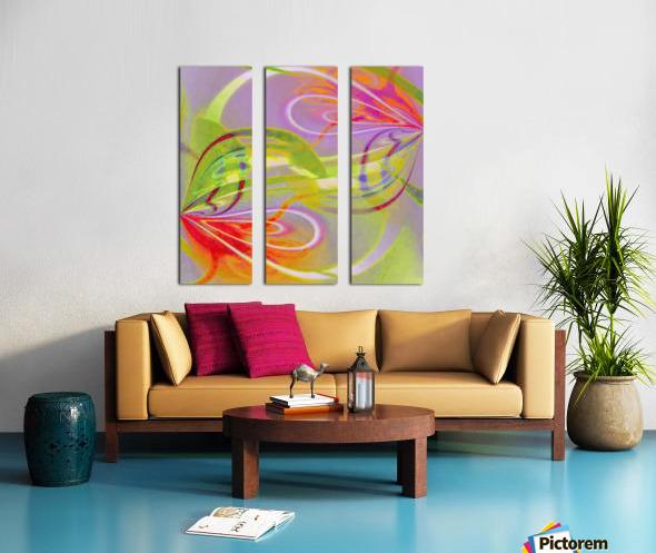 Infinity Painting Green Split Canvas print