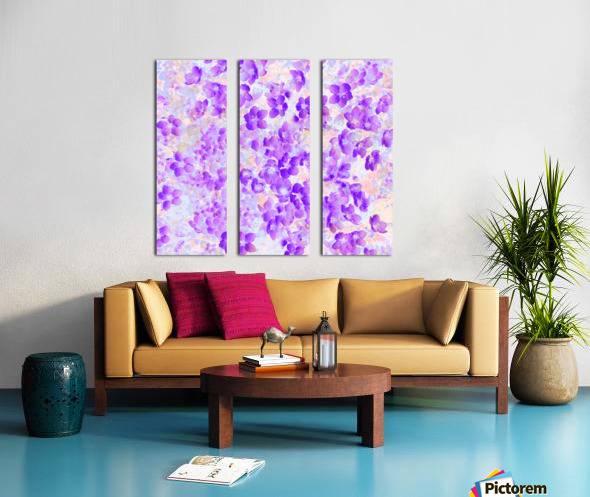 Purple Spring Flowers Split Canvas print