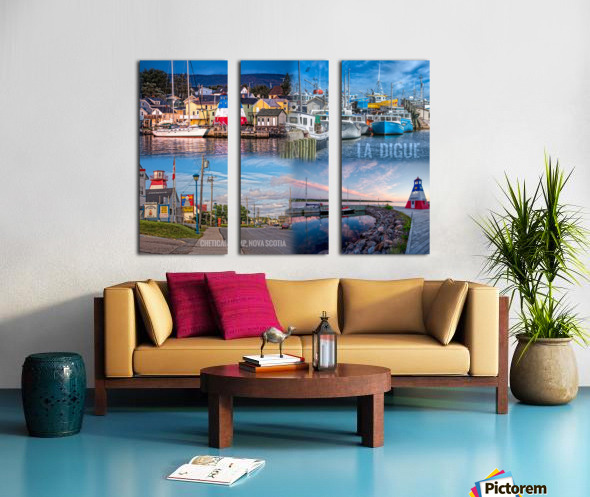 Cheticamp Collage Split Canvas print