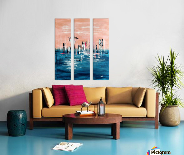 Westown I Split Canvas print