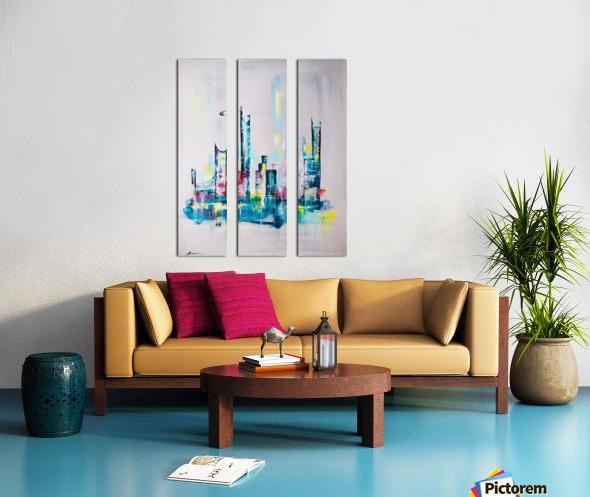 Uptown Split Canvas print