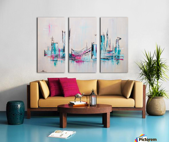 Uptown XXII Split Canvas print