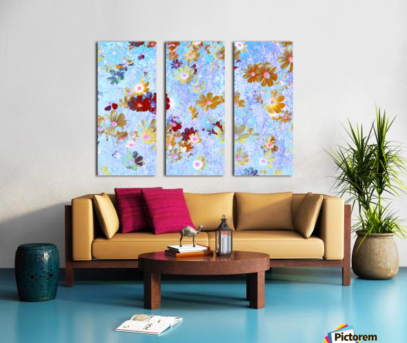 Cosmos Flowers Garden Split Canvas print