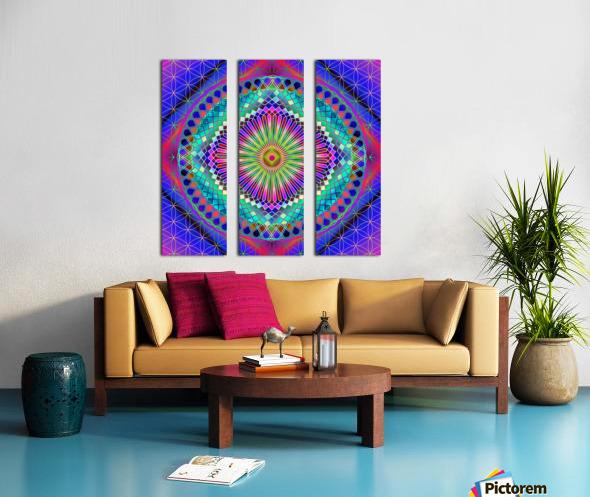 Vintage Sun Mandala Split Canvas print