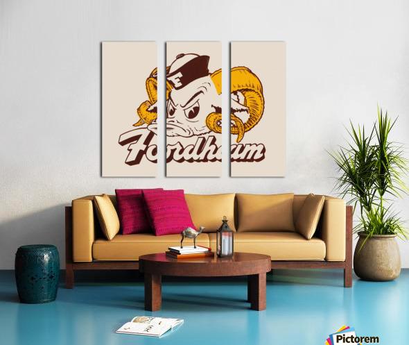 vintage fordham ram mascot college art Split Canvas print