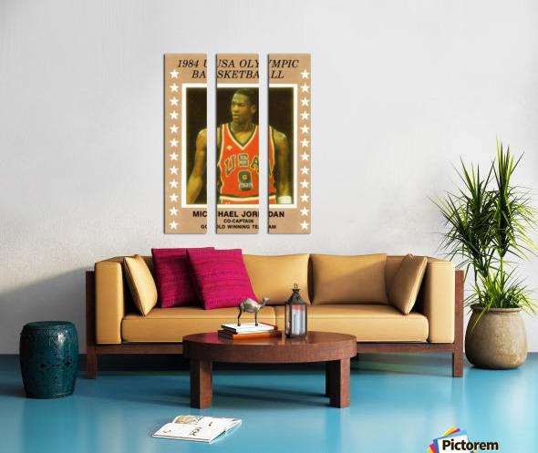 1984 USA Olympic Basketball Michael Jordan Split Canvas print