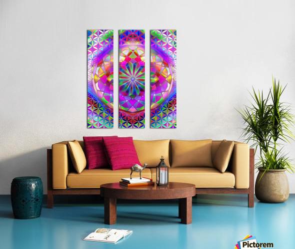 Crystal Flower Mandala Split Canvas print